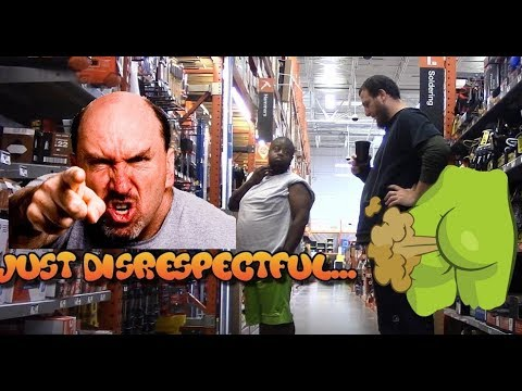 Guy wants to fight in Hardware Store WET Farts prank! Flatulence Friday EP 36!😂 fart sounds,angry
