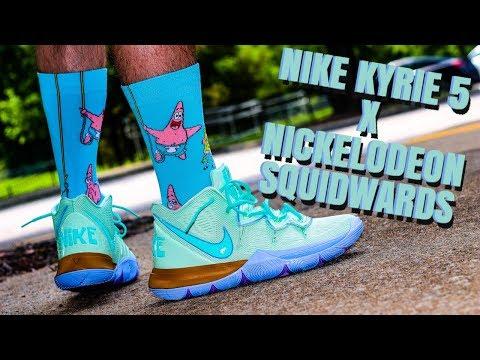 nike-kyrie-5-x-nickelodeon-spongebob-collab-squidwards-review-&-sick-on-feet!!