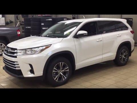 2017 Toyota Highlander Awd 4dr Le Youtube