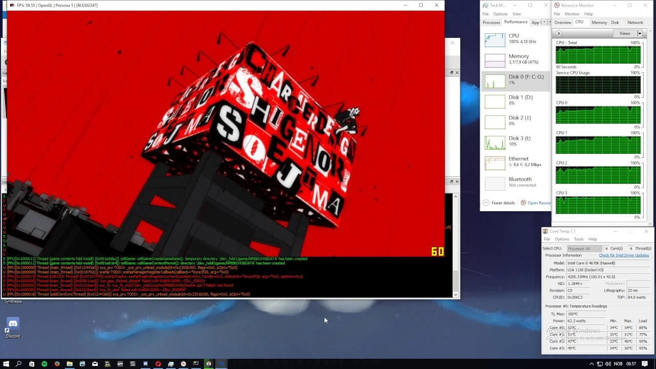 Persona 5 - rpcs3 0 0 3 - GTX 750 Ti