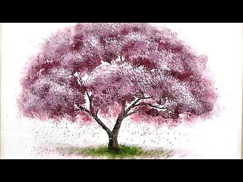 comment peindre un arbre technique tres simple