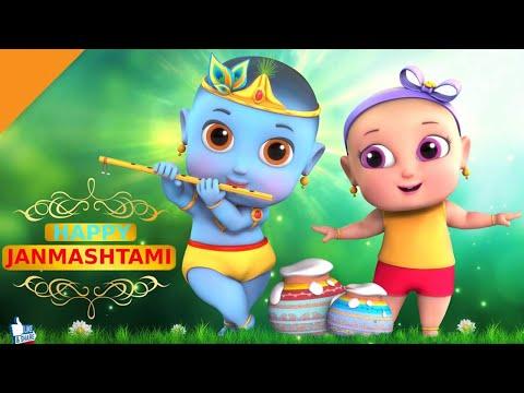 Little Krishna Makhan Chor Funny Cartoon For Kids | Little Krishna  Animation Video