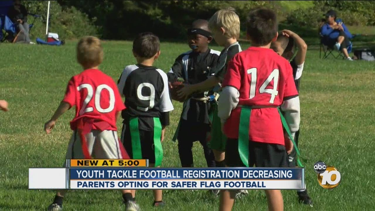 Youth Tackle Football Participation >> Flag Football Participation On The Rise As Parents Guard Children