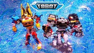 Drama Bermain Tobot Tritan & Quatran Sambil Berenang dan Bermain Air | Tobot Bahasa Indonesia