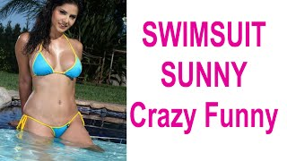 swimsuit sunnyleone new video   Hot sweetest   Beautiful boobs