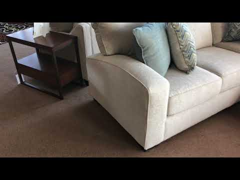 Simmons UpholsteryEndurance 7077 Track Arm Sectional With Chaise Made In The USA Wyckes Furniture