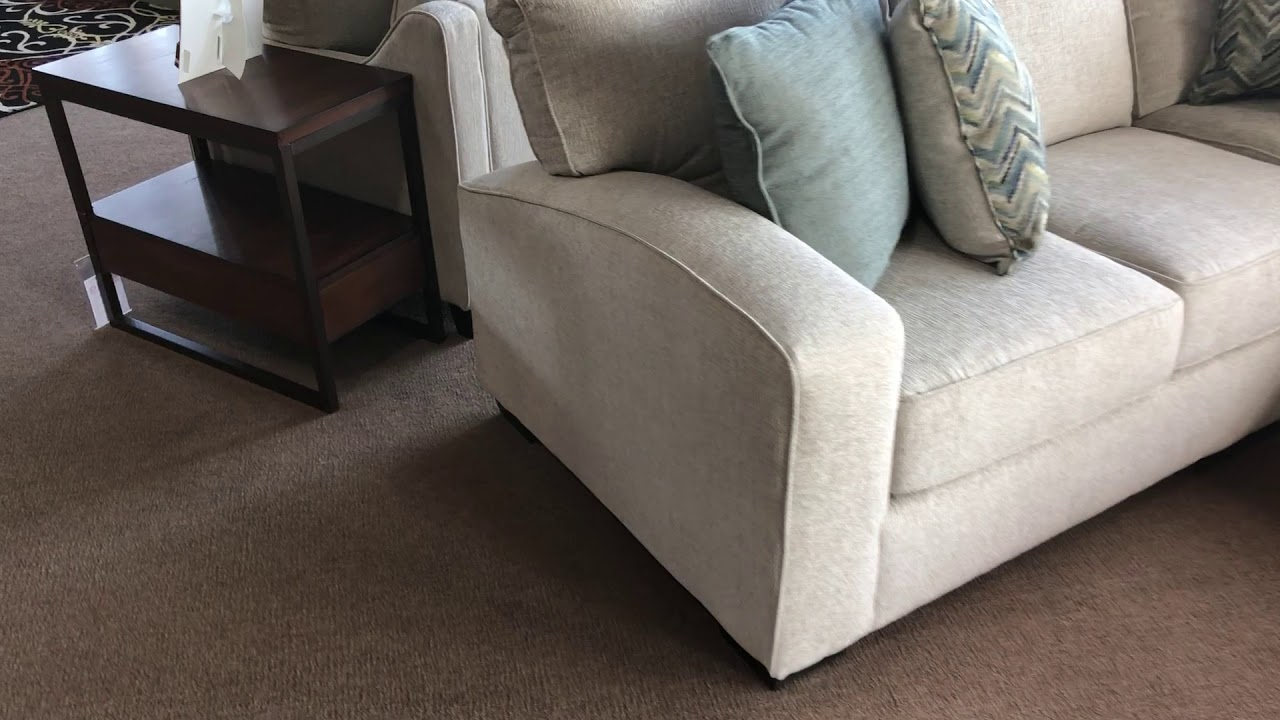 Simmons Upholstery Endurance 7077 Track Arm Sectional With Chaise