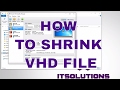 VirtualBox How to Shrink decrase size of VHD files (Virtual Hard Disk) Compact VDisk