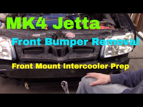 MK4 Jetta Front Bumper Removal/Front Mount Intercooler Install