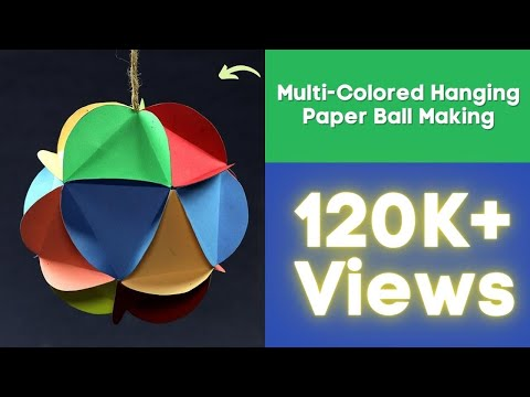 DIY Christmas Decorations - Multi-Colored Hanging Paper Ball Making