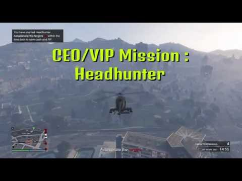 GTA 5 CEO/VIP MISSION : HEADHUNTER