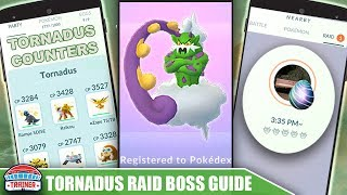 TOP *TORNADUS* COUNTERS, 100 IV, MOVESET + RAID GUIDE - FLYING LEGENDARY | Pokémon Go