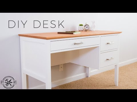 DIY Desk with Drawers | How to Make
