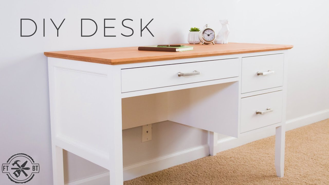 Diy Desk With Drawers How To Make Youtube