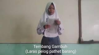 Gambar cover Tembang Gambuh ( laras pelog pathet barang ) by Dewi Lestari SMA N 1 LARANGAN