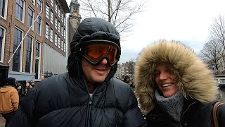 AMSTERDAM WINTER TRAVEL VLOG - DAY 2 (CANAL TOUR, ANNE FRANK, TULIP MUSEUM)   EUROPE TRAVEL