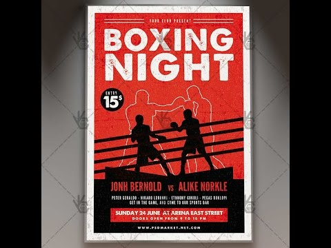 Boxing Night - Premium Flyer PSD Template