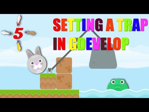 SETTING A TRAP IN GDEVELOP(Rabbit vs Crocodile)