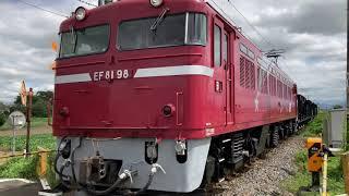 【JR東】EF81 98牽引 ホキ800型KY入場配給