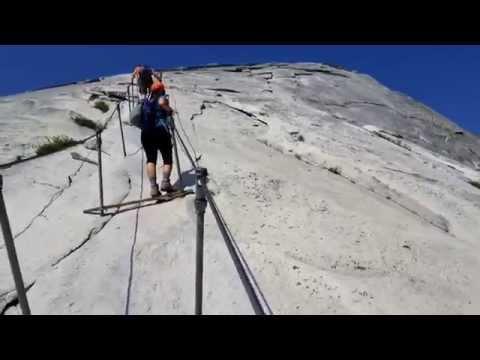 Yosemite Half Dome Cables POV