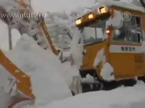 Рекордные снегопады в Японии - NTD