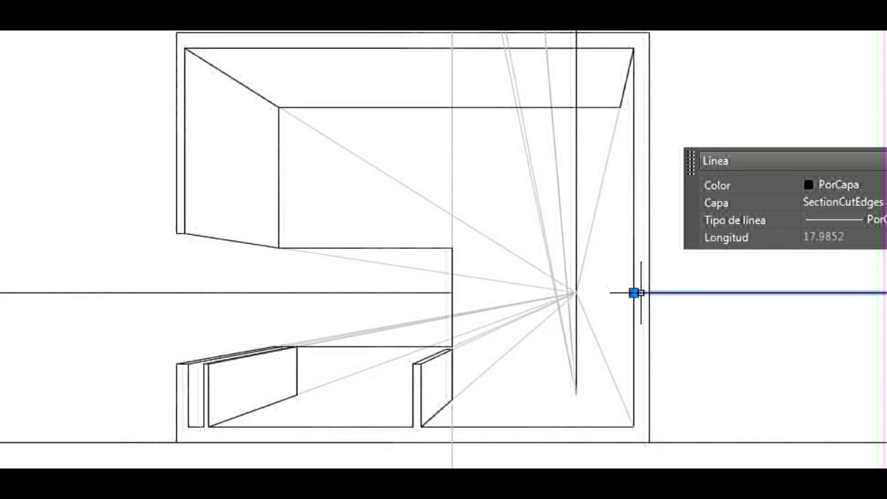 Corte fugado perspectiva de un espacio interior youtube for Diseno de interiores nota de corte