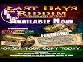 Download LAST DAYS RIDDIM DiscipleDJ 2016 MIX GOSPEL REGGAE GOSPEL MP3 song and Music Video