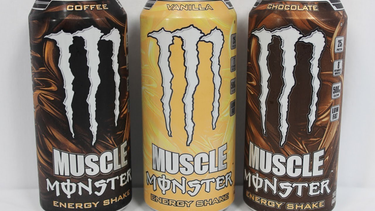 Muscle Monster Energy Shake Coffee Flavor (review) - YouTube