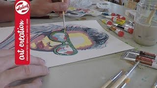Painting with gouache: A Face | Talens Art Creation