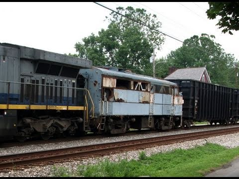 Csx Ge Ac6000 And An Alco Fa What A Lash Up Youtube