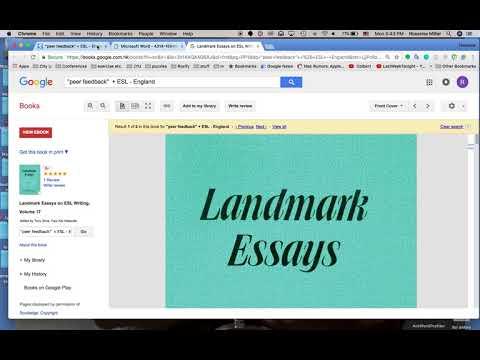 Using Google Scholar and Google Books