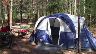 Coleman Tent Setup at PWYP 2011, Equip 2 Endure