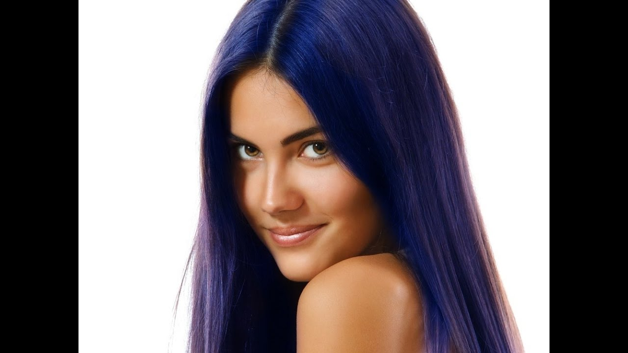 Midnight Blue Hair Color Youtube