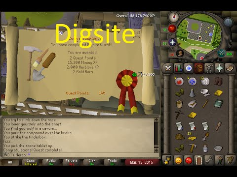 OSRS Quests - The Digsite - YouTube