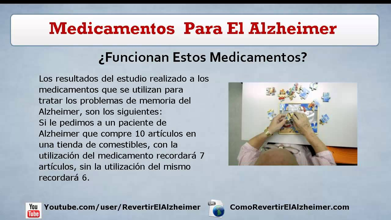 Medicamentos Para El Alzheimer: Medicacion Alzheimer y