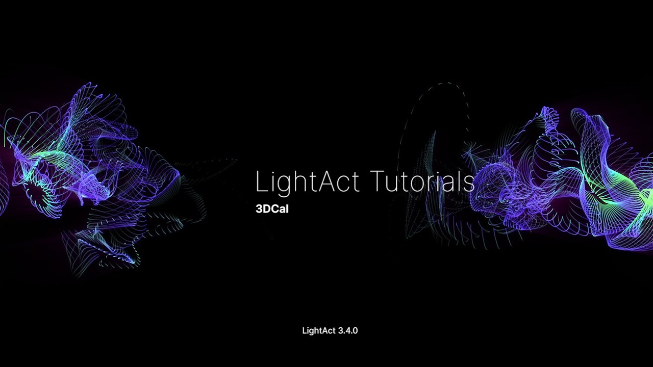 3DCal - 3D projector calibration   LightAct - YouTube