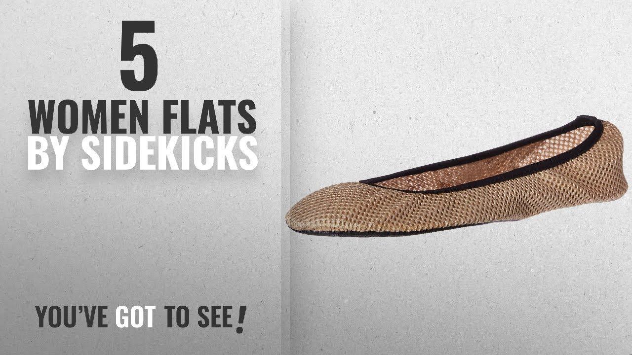 fa575a9b5 Top 5 Sidekicks Women Flats [2018]: Sidekicks Foldable Ballet Flats with  Carrying Case, Cream, Large
