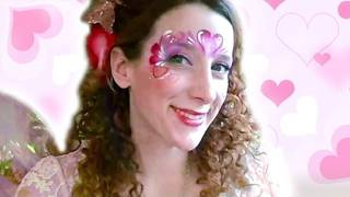 VALENTINES DAY HEART FACE PAINTING TUTORIAL 2012
