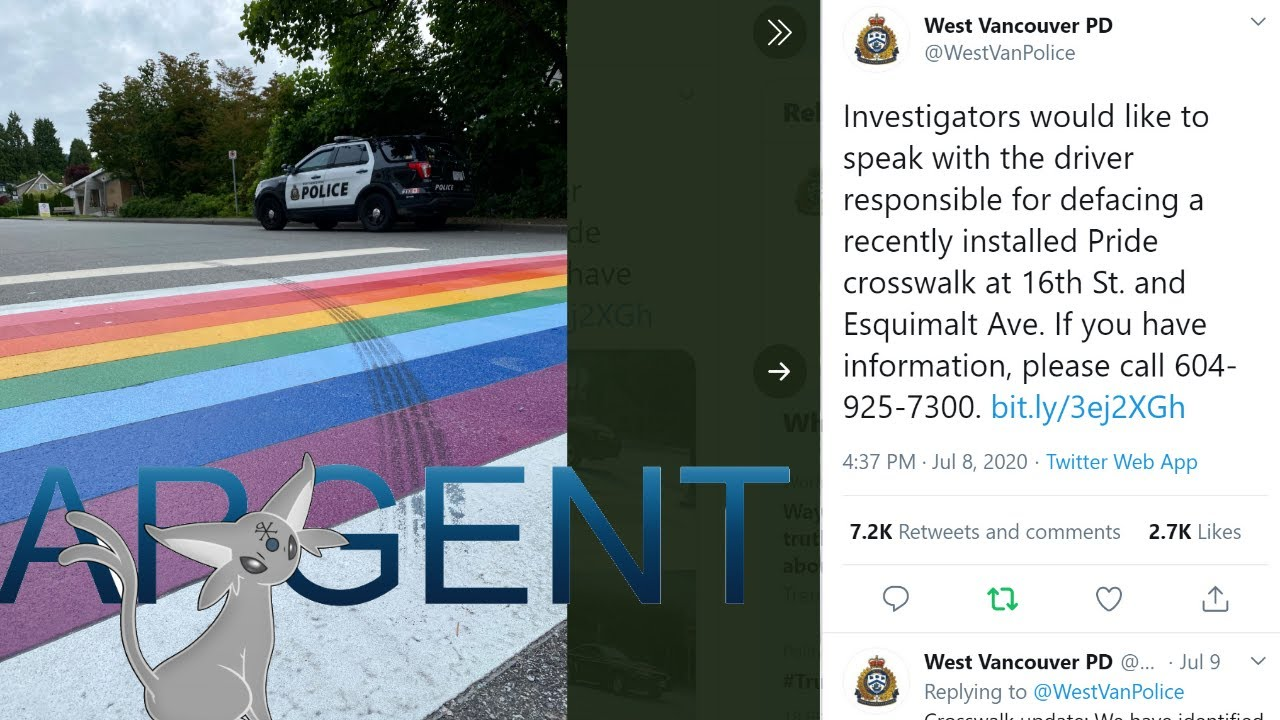 Vancouver Police Department Launches Manhunt For Dude Who... Drove Over a Rainbow Crosswalk?