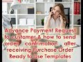 How to send order confirmation and advance payment request after receiving Customer Purchase Order