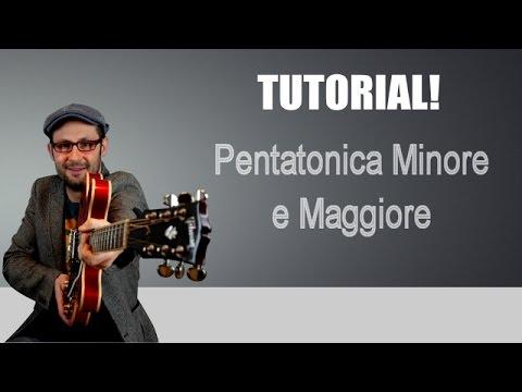 PENTATONICA MINORE E MAGGIORE, COME COMBINARLE - TUTORIAL CHITARRA - LEZIONE