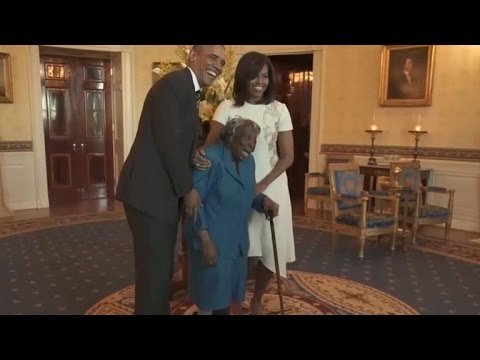 Watch: 106-year-old woman's priceless reaction to meeting th