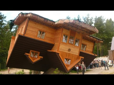 World's First Upside Down House in Szymbark, Poland