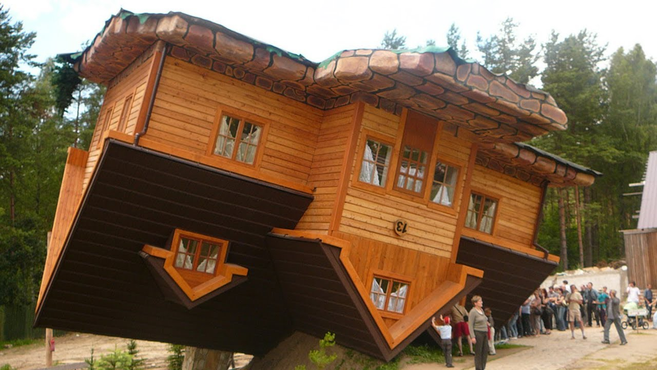 The Upside Down House world's first upside down house in szymbark, poland - youtube