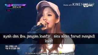[Indo Sub + Engsub] Jeon Soyeon Feat Davi  - Smile  (Live Unpretty Rapstar)