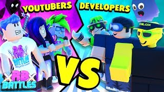 CAN WE BEAT THESE DEVELOPERS AT THEIR OWN GAME? (Roblox Battles)