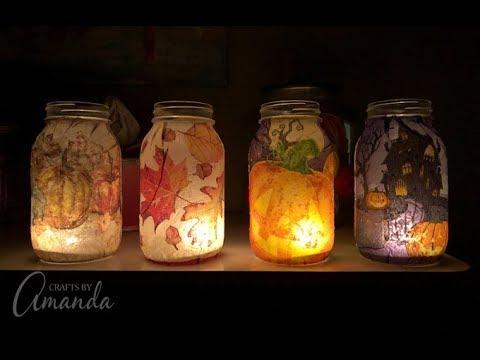 Fall Napkin Luminaries