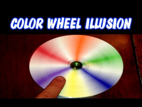 Color Wheel Illusion Spinner Newton S Disc Easy To Make Incredible