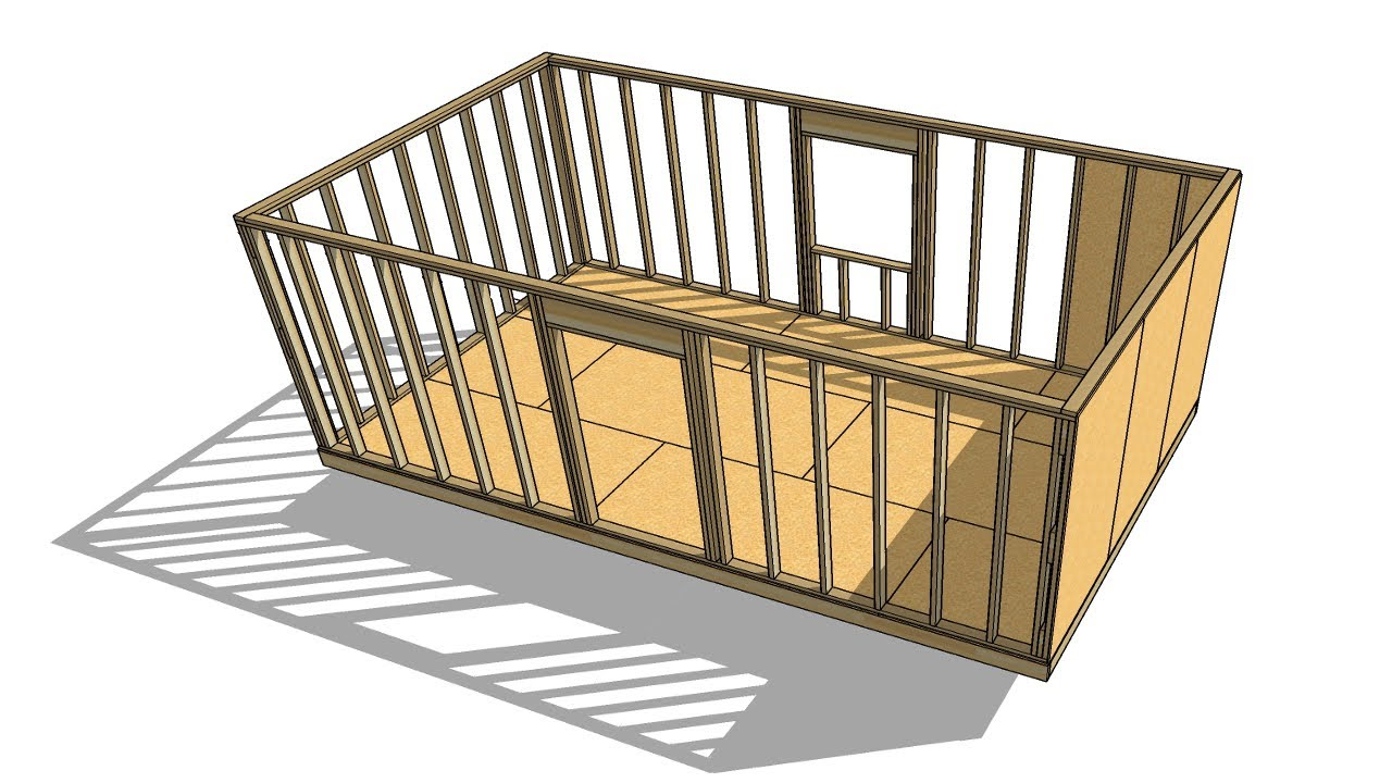 Building A 12 X 20 Shed In Sketchup Part 1 Live