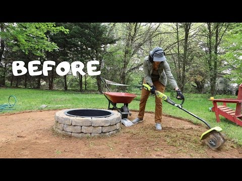 How to Make a Fire Pit Seating Area: Backyard Makeover – Thrift Diving